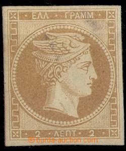 37843 - 1861 Mi.2b, pařížský tisk, skvrny v lepu prosvitají do