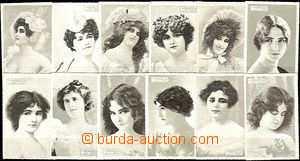 37884 - 1900 Sušice factory Bernard Fürth, picture set - women, dull