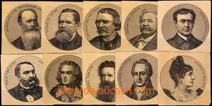 37885 - 1900 Sušice factory Bernard Fürth, picture set personalities