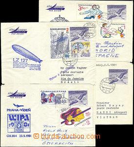37932 - 1981-82 Czechoslovakia  4 pcs of aerogram CAE1, sent the fir