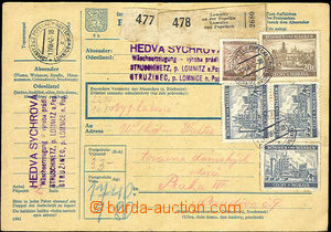 37934 - 1942 whole post. průvodka(!) with general postage 33K, with