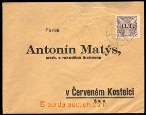37944 - 1934 OT private return envelope with 30h, Pof.OT3, cnl. Hodo