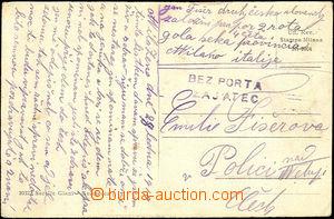 37969 - 1919 ITÁLIE  pohlednice zaslaná do ČSR s adresou odesíla