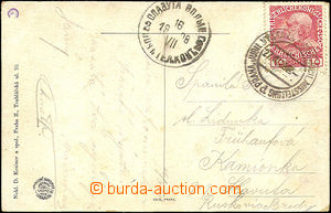37985 - 1908 postcard with 10h and special postmark PRAGUE JUBIL. EX