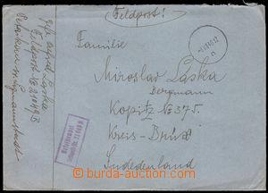 37993 - 1940 letter sent sent by FP 21049B Petrikau in. Lizmannstadt