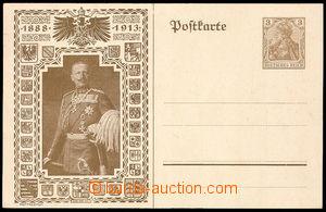 38000 - 1913 dopisnice 3Pf Mi.89 s přítiskem císaře Viléma 1888