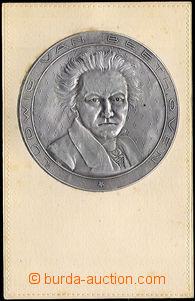 38011 -  Medallion L. van Beethovena - plastic metal plastic film on
