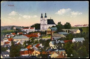 38019 - 1916 Frýdek - view over housetops on/for pilgrimage church,