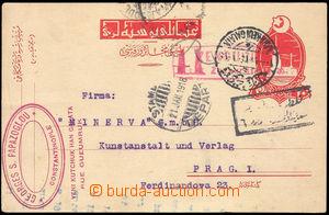 38020 - 1918 dopisnice 20pa zaslaná do Prahy, DR Karakeui Galata 21
