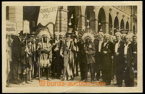 38021 - 1915 USA - Ceremonial procession Indians on/for Celebration