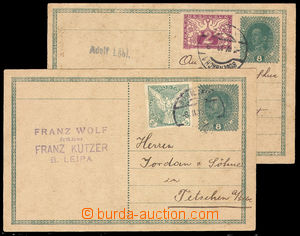38031 - 1919 CPŘ3 uprated by. newspaper stamp. 2h Sokol as postage