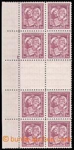 38037 - 1935 Pof.293Ms, Cyril a Metoděj, 2x 4 zn. meziarší s DZ1,