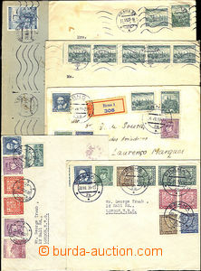 38068 - 1938-39 assembly of 6 letters addressed to foreing countries