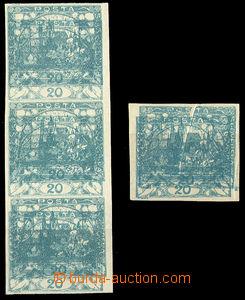 38090 -  Pof.8, 20h modrozelená, 3-páska + 1zn. s dvojitým tiskem