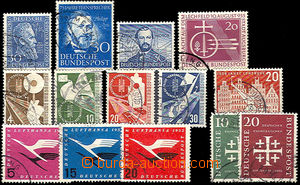 38096 - 1951-56 comp. 14 pcs of stamp., Mi.147, 150, 161, 167-170, 2