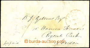 38114 - 1849 cash franked letter sent from Gosport to London, manusc