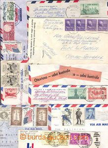 38129 - 1951-66 USA  selection of 25 pcs of richly franked letters t