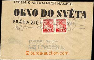38139 - 1940 celá novinová páska vyfr. 2-páskou zn. 20h Lipové