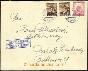 38143 - 1940 dopis s německo českým raz. MOCHTÍN (KLATOVY), DR K