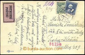 38154 - 1939 Potrubní pošta  pohlednice vyfr. předběžnými zn.