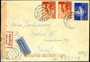 38155 - 1942 Ex + Let. dopis zaslaný do Protektorátu, vyfr. zn. Mi