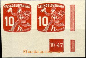 38166 - 1945 Pof.NV24, DZ 10-47, pravá rohová 2-páska, kat. 900K�