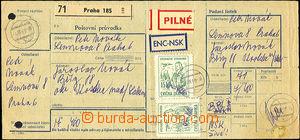 38191 - 1969 CVIČNÉ ZNÁMKY  celá poštovní průvodka vyfr. cvi�