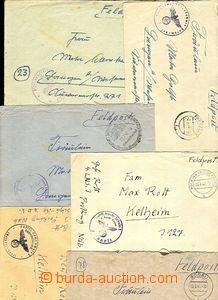 38198 - 1940-44 sestava 10ks dopisů s útvarovými razítky různých let