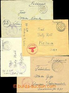 38199 - 1942-44 sestava 4ks dopisů s razítky různých leteckých útvar