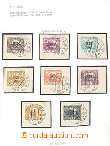38223 - 1920 1920 ČSRI SO1920 collection on pieces with full cancel