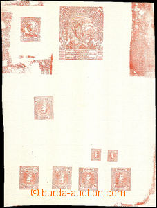 39771 - 1920 joined printing 9 pcs of PLATE PROOF, outside other als
