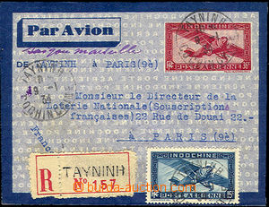 39822 - 1934 R-aerogram to Paris, with printed stamp. 36c, uprated b