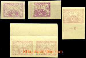 39834 - 1919 Pof.S1 2x, S3 3x, all with offset on reverse, 4  pcs ma