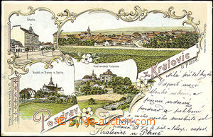 39856 - 1900 Kralovice by/on/at Plzeň, color lithography, 4-view col