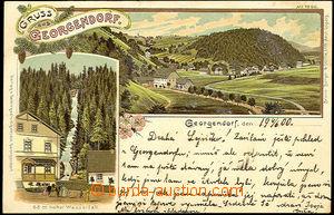 39859 - 1900 ČESKÝ JIŘETÍN (Georgendorf) - color lithography, 2-