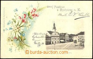 39860 - 1899 Rychnov nad Kněžnou, náměstí, barevná kolážová