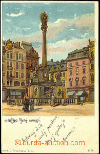 39861 - 1899 Brno, Velké square, single-view color lithography, long