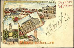 39866 - 1900 Čáslav - barevná lito, vícezáběrová koláž,  mj