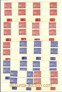 39958 - 1939 Pof.DL1-14M, 2-známková meziarší s dolními okraji