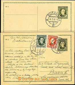 39967 - 1939 CDV2 uprated by. Alb.28 and 30, addressed to to Prague,