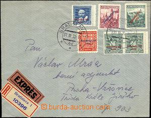 39978 - 1939 R + Ex dopis zaslaný do Protektorátu, vyfr. přetisko