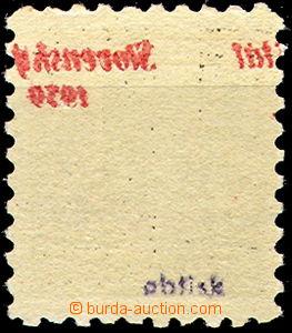 40000 - 1939 Alb.3SOP, přetisková Znak 10h s posunutým obtiskem na l