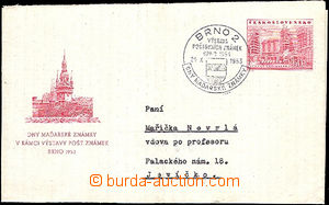 40034 - 1953 CZA3 posted on/for exhibition with special postmark Brn