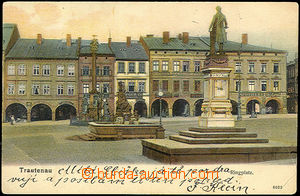 40042 - 1904 Trutnov - square with 2 memorials and morovým sloupem,