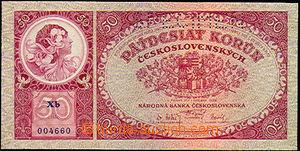40065 - 1929 Czechoslovakia  bank-note 50CZK (č.22b), set Xb, perfo