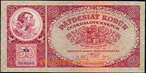 40065 - 1929 ČSR  bankovka 50Kč (č.22b), série Xb, perf. SPECIMEN, k