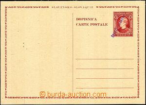 40082 - 1945 CDV VI. výpomocné vydání, ruční fialový přetisk