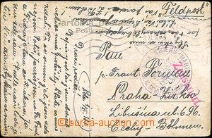 40120 - 1914 S.M.S. GAMMA, round violet postmark with eagle, MC Pola
