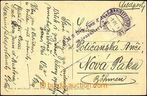 40121 - 1917 S.M.S. Don Juan d'Austria/ Zensuriert, double-line canc