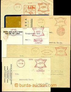 40127 - 1929-37 sestava 5ks celistvostí vyplacených OVS s reklamn�
